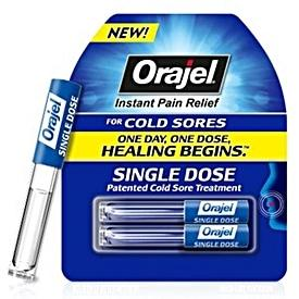 Orajel Single Dose Cold Sore Treatment