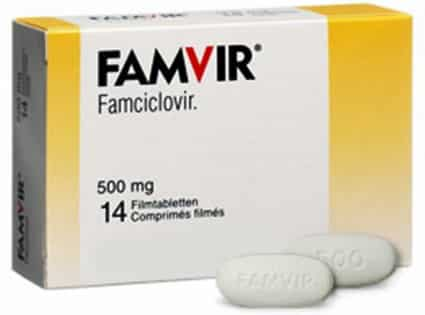 How long does famciclovir stay in your system?